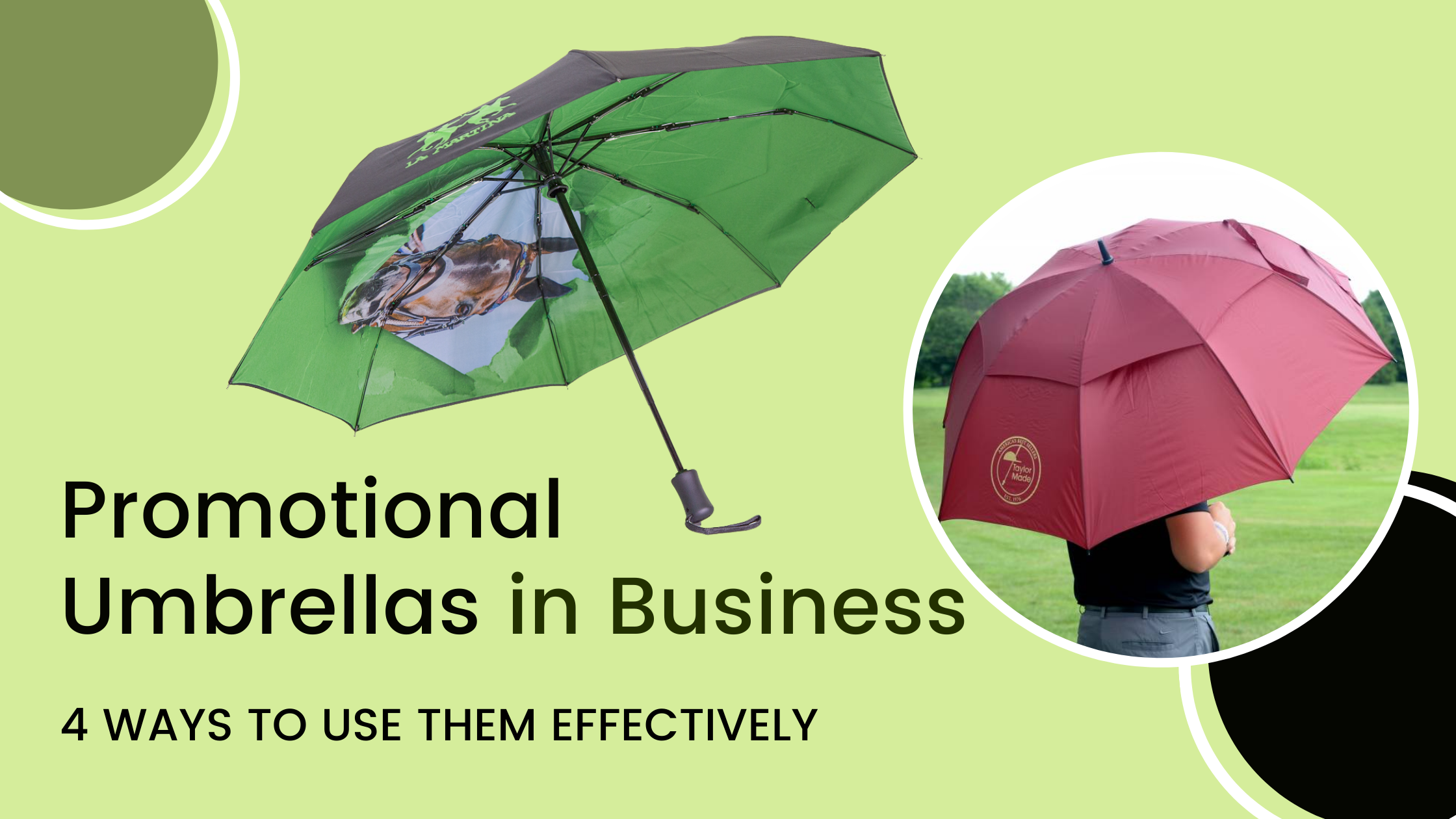 4 Ways to use promotional umbrellas in Business