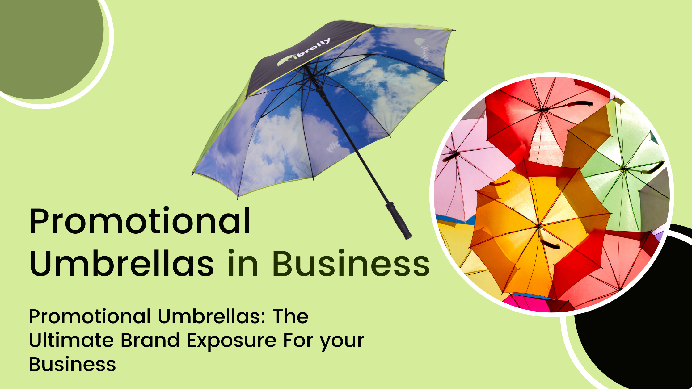 Promotional Umbrellas: The Ultimate Brand Exposure For your Business